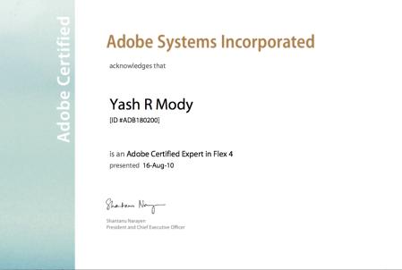 Adobe Flex 4 Certificate